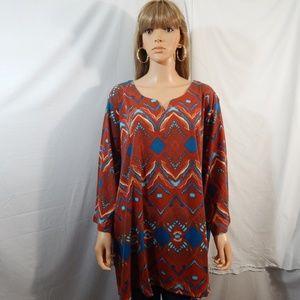 NWOT NEW Roaman's  Size 5X 38/40 Top Shirt Blouse